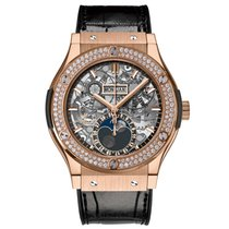 Hublot Classic Fusion Aerofusion Moonphase King Gold Diamonds