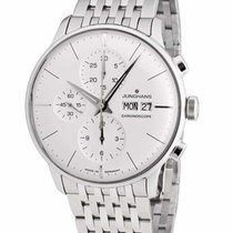 Junghans Chronograph 40mm Automatic new Meister Chronoscope Silver
