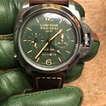 Panerai Luminor 1950 8 Days Chrono Monopulsante GMT Titan 44mm Grün Deutschland, Hamburg