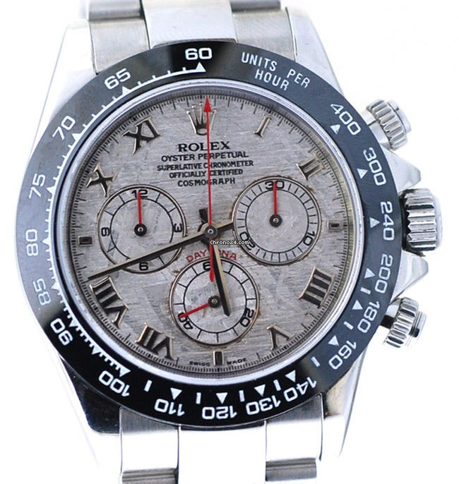 Rolex 24 Daytona >> Rolex Daytona Steel 116520, Mens Watch In Steel, Meteorite ...