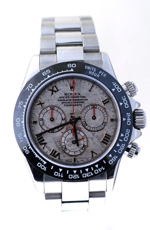 Rolex Daytona Steel 116520, Mens Watch In Steel, Meteorite