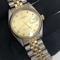Rolex 1501 14K YG Oyster Perpetual Date w/ New Rolex Box