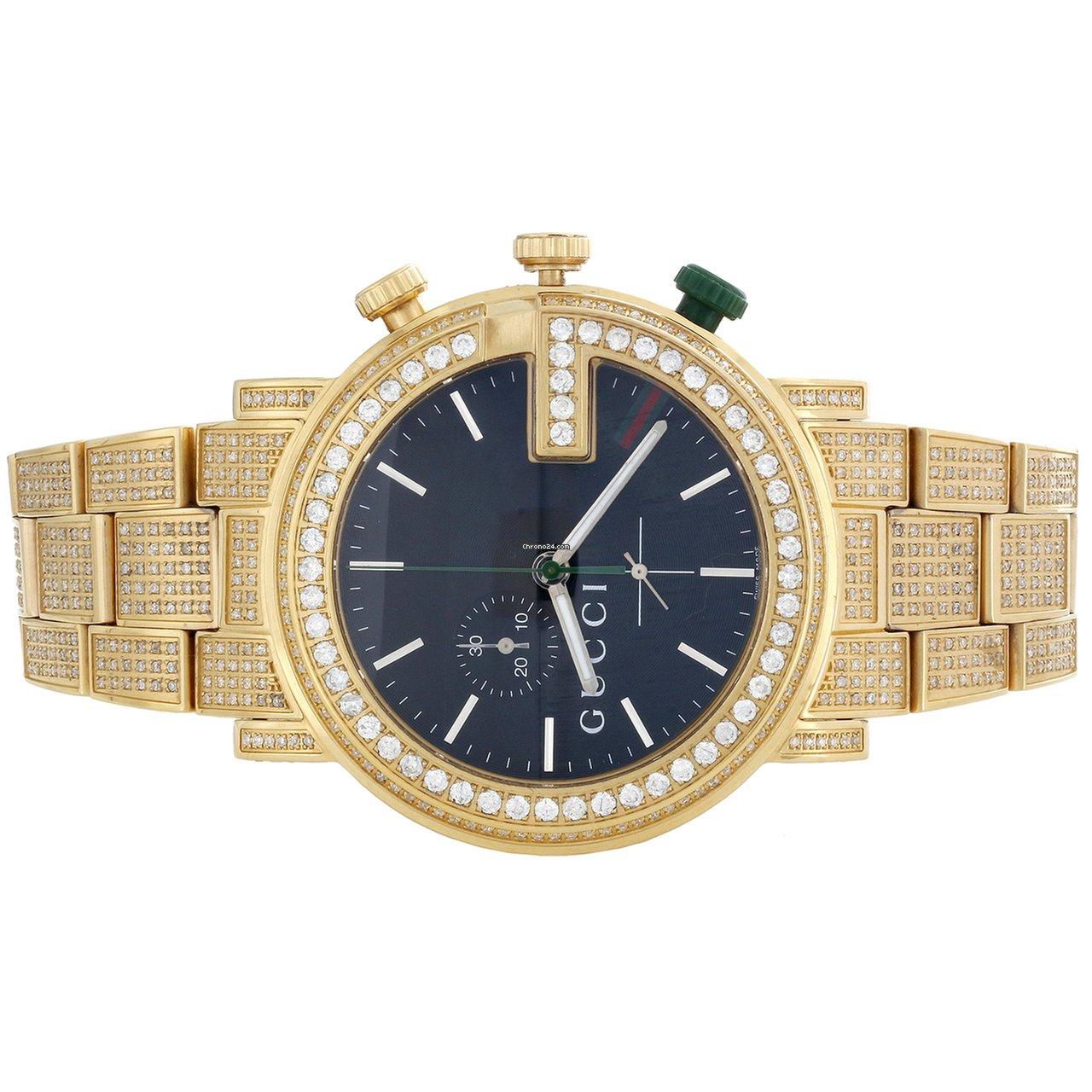 892b1b28269 Gucci Custom Real Diamond Gucci Watch Ya101331 Mens 101G... for ...