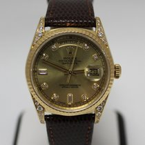 Rolex Day Date 36 Diamond Dial Yellow Gold 18338