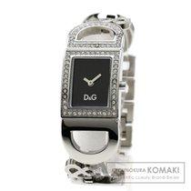 Dolce & Gabbana キュービックジルコニア/ロゴモチーフ 腕時計 ステンレススチール レディース...