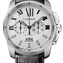 Cartier Calibre de Cartier Chronograph Сталь 42mm Cеребро Римские