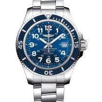 Breitling Superocean II 42 Steel 42mm Blue Arabic numerals United States of America, New York, New York