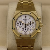 Audemars Piguet Yellow gold Automatic White 39mm pre-owned Royal Oak Chronograph