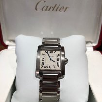 Cartier Tank Française pre-owned 25mm White Double-fold clasp