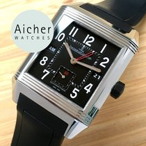 Jaeger-LeCoultre Steel Automatic White Arabic numerals 35mm pre-owned Reverso Squadra Hometime