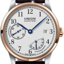 Union Glashütte Aur/Otel 41mm Armare manuala D906.456.26.017.00 nou