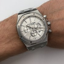 Audemars Piguet Steel Automatic Silver 46mm pre-owned Royal Oak Chronograph