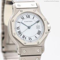 Cartier Santos (submodel) Stal 30mm Rzymskie