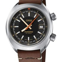 Oris Chronoris Steel 39mm Black No numerals