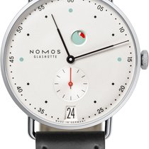 NOMOS Metro Datum Gangreserve Steel 37mm White United States of America, New York, Airmont
