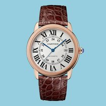 Cartier Red gold Automatic Silver Roman numerals 42mm new Ronde Solo de Cartier