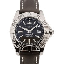 Breitling Galactic 32 Chronometer Black Leather Strap