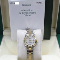 Rolex Datejust Ladies 179163 Mother Of Pearl 18k Gold & Steel...
