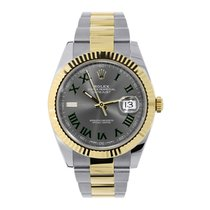 Rolex DATEJUST 41mm Steel & 18K Yellow Gold Oyster Bracelet...