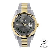Rolex Datejust Or/Acier 41mm Gris Romain