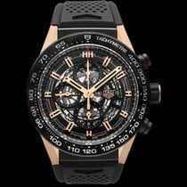 TAG Heuer Carrera Calibre HEUER 01 Rose gold Black United States of America, California, San Mateo