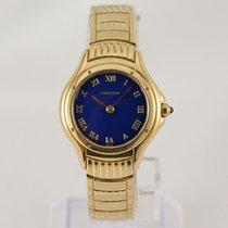 Cartier Cougar Gelbgold 26mm Blau Römisch
