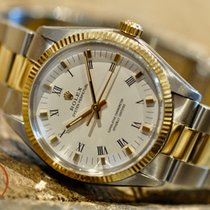 Rolex Oyster Perpetual 34 Goud/Staal 34mm Wit Romeins Nederland, Barendrecht