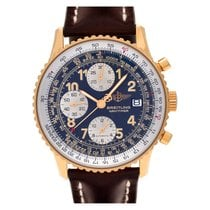 Breitling Yellow gold Automatic Blue Arabic numerals 42mm pre-owned Old Navitimer