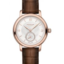 Montblanc Rose gold Automatic Silver Arabic numerals 32mm new Star