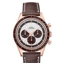 Omega Speedmaster Professional Moonwatch Or rose 39.7mm Blanc Sans chiffres