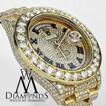 Rolex Day Date Ii President 41mm Yelow Gold 33 Carat Custom...