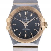Omega Constellation Co-Axial Stahl Gelbgold Automatik Armband...