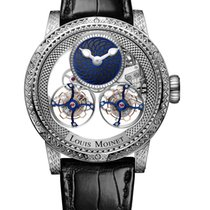 Louis Moinet Sideralis White gold 47,4mm No numerals