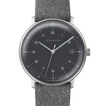 Junghans max bill Quartz 041/4818.00 JUNGHANS MAX BILL QUARTZ nero grigio new