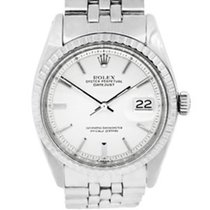 Rolex 1603 Datejust Silver Pie Pan Stick Dial Stainless Steel...
