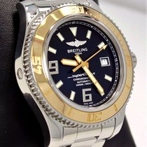 Breitling Superocean C17391 18k Rose Gold/ss 44mm Black Watch...