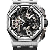 오드마피게 Royal Oak Offshore Tourbillon Chronograph 스틸 투명색