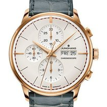 Junghans Rose gold Automatic Champagne 41mm new Meister Chronoscope