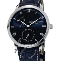 Frederique Constant Manufacture Slimline Staal 40mm Blauw Romeins