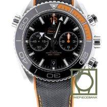 Omega Seamaster Planet Ocean Chronograph Staal 45.5mm Zwart Arabisch