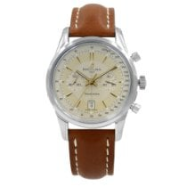 Breitling Transocean Chronograph pre-owned 46.5mm Champagne Leather