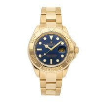 Rolex Yellow gold Automatic Blue No numerals 40mm pre-owned Yacht-Master