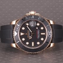 Rolex Yacht-Master 37 Oro rosado 37mm Negro Sin cifras