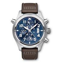 万国  (IWC) 8DAYwatch-New IW371807 PILOTS STAINLESS STEEL BLUE
