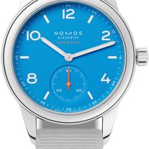 NOMOS Club Neomatik Steel 37mm Blue United States of America, New York, Airmont