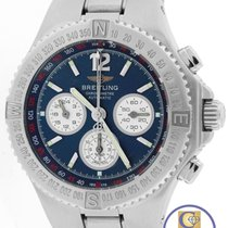 Breitling Chronograph A39363 Hercules 45mm Blue Stainless...