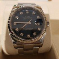 Rolex 2017 model - Datejust, Blue dial, white gold bezel an...