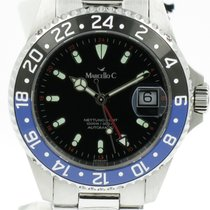 "Marcello C. ""Nettuno 3 GMT Automatic"" 2 tone ceramic bezel...."