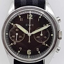 CWC Chronograph Manual winding 1974 pre-owned Black