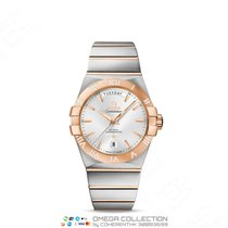 Omega Constellation Day-Date Gold/Steel 38mm Silver No numerals
